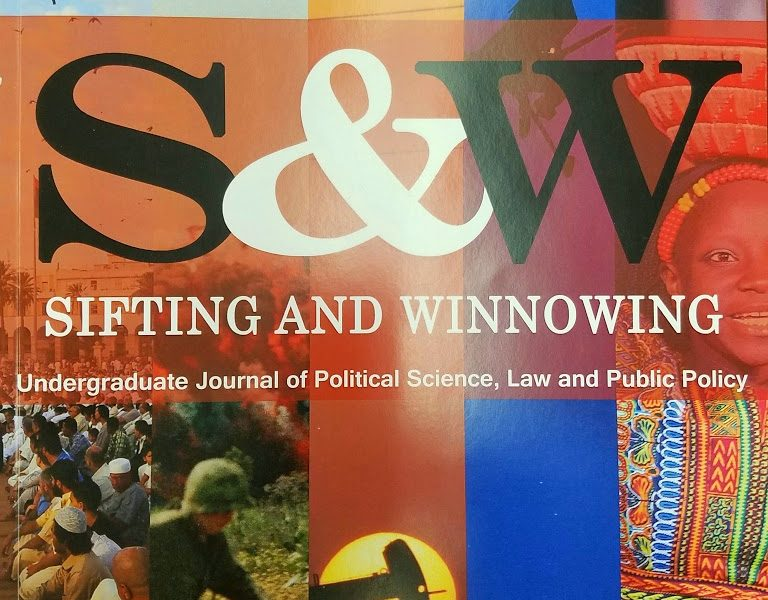 Cover of Sifting & Winnowing journal.