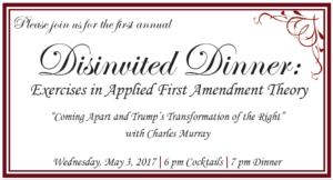 Front of Disinvited Dinner invitation.