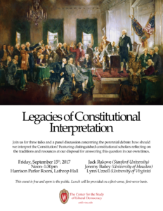 Poster for Constitution Day Event