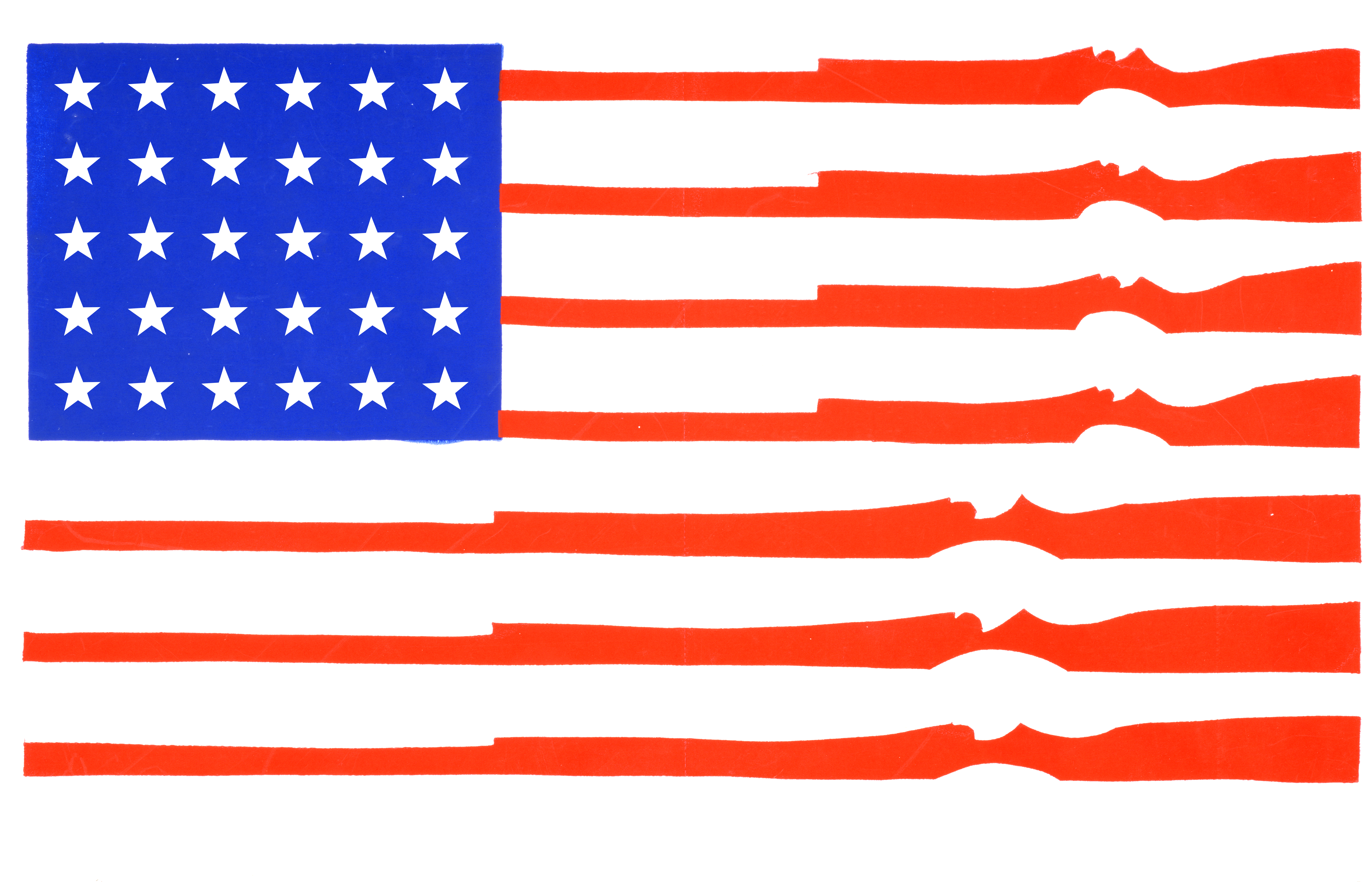 Flag of the United States with guns instead of stripes.
