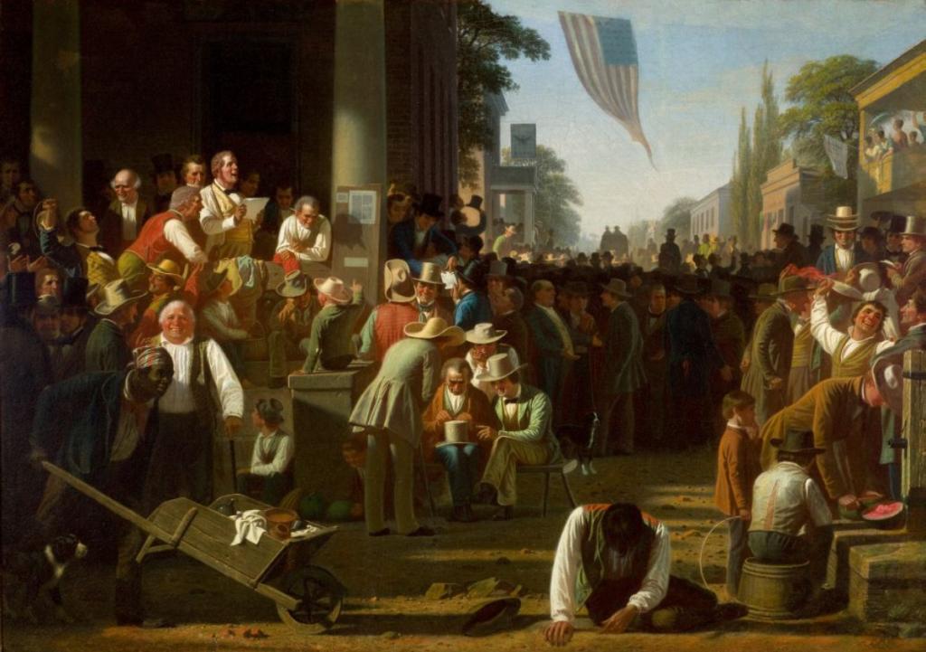 The Verdict of the People by George Caleb Bingham