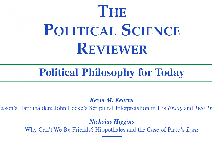 Cover of The Political Science Reviewer