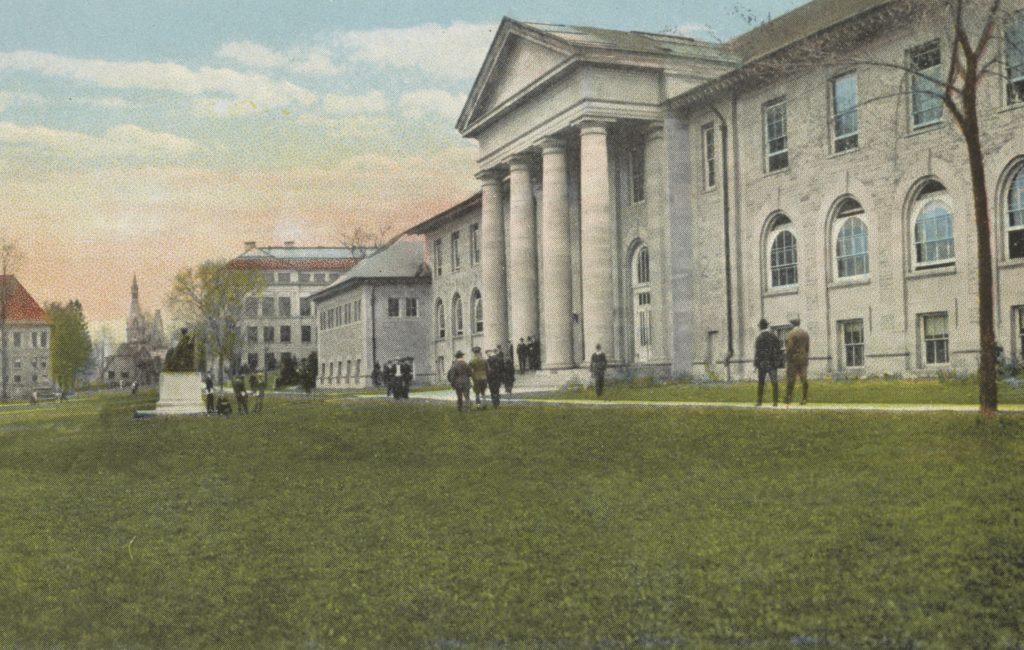 A university campus quad