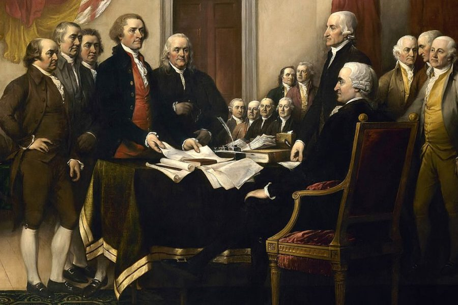 Founding Fathers around table