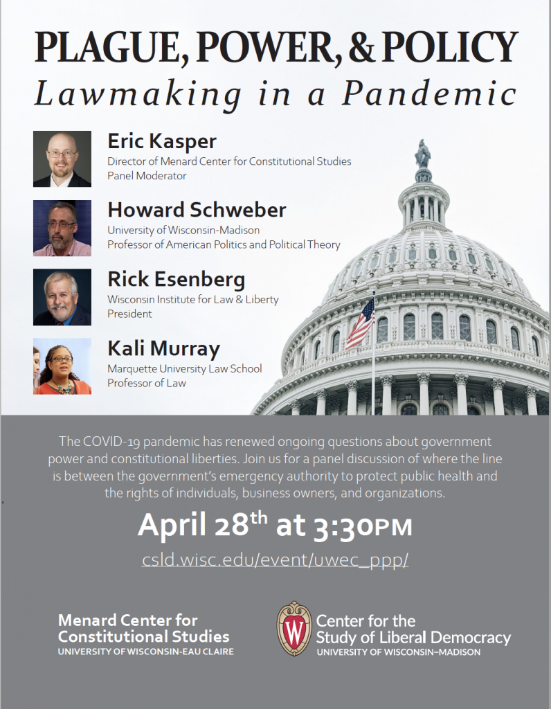 4/28/21 Plague, Power, & Policy: Lawmaking in a Pandemic